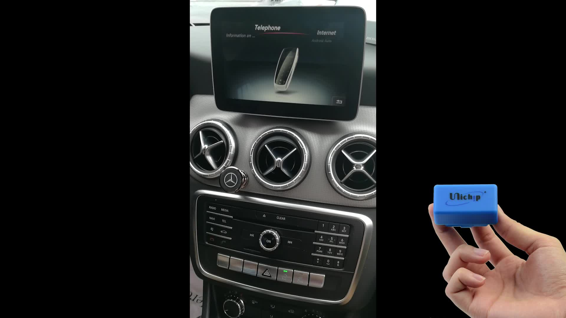 android auto apple carplay for mercedes c class via obd2. Black Bedroom Furniture Sets. Home Design Ideas