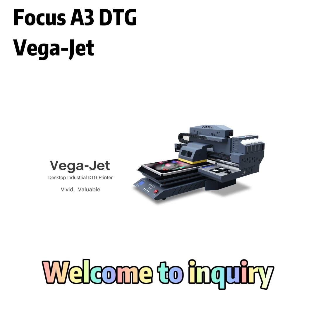 En yeni dtg BASKI MAKİNESİ focusinc a3 flatbed tshirt yazıcı