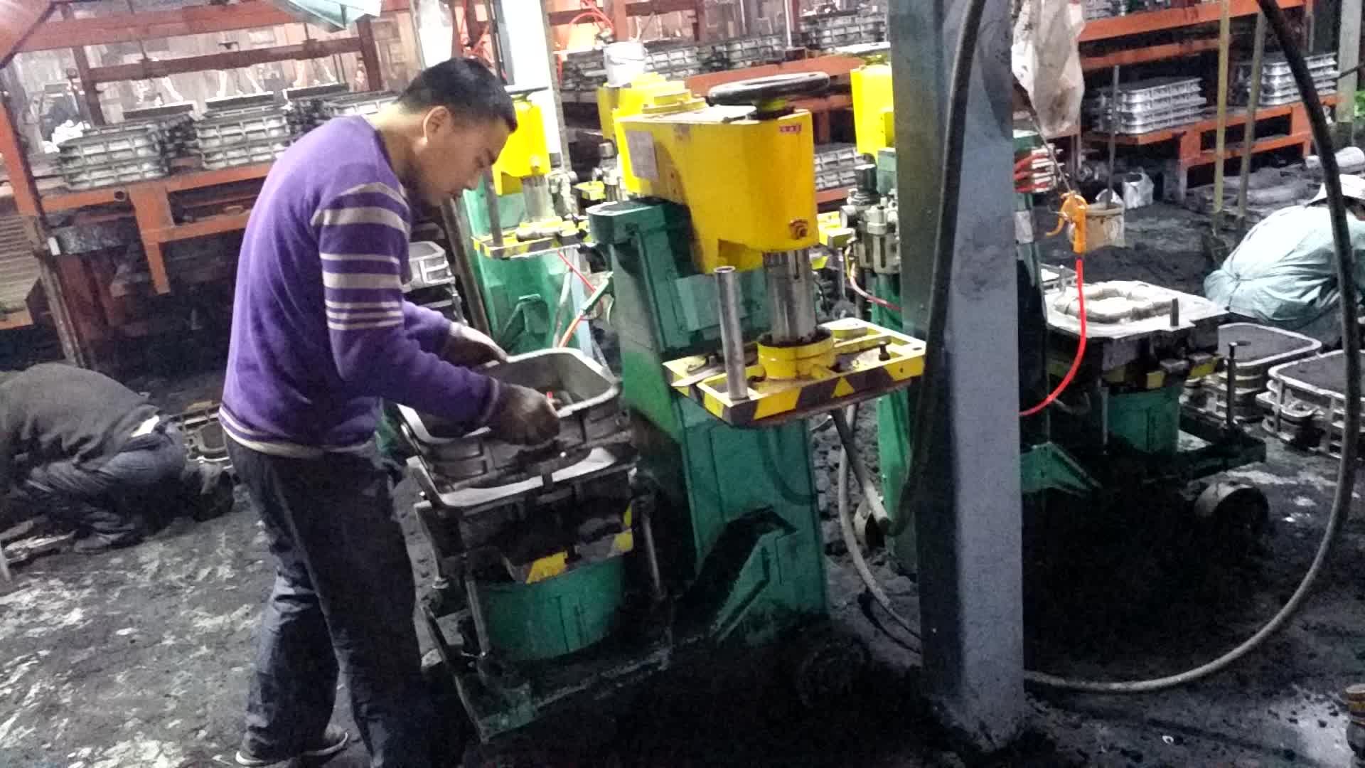 Yüksek basınçlı yeşil kum jolt sıkma kalıplama makinesi/paslanmaz çelik kalıp makinesi/dökme demir kalıplama makinesi