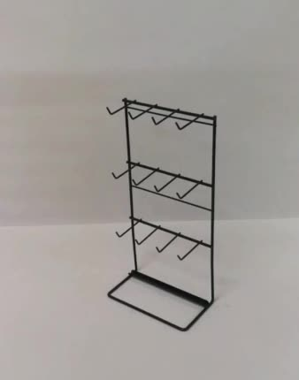 counter top standing steel iron rod pegs  metal wire retail shop hanging snacks display rack