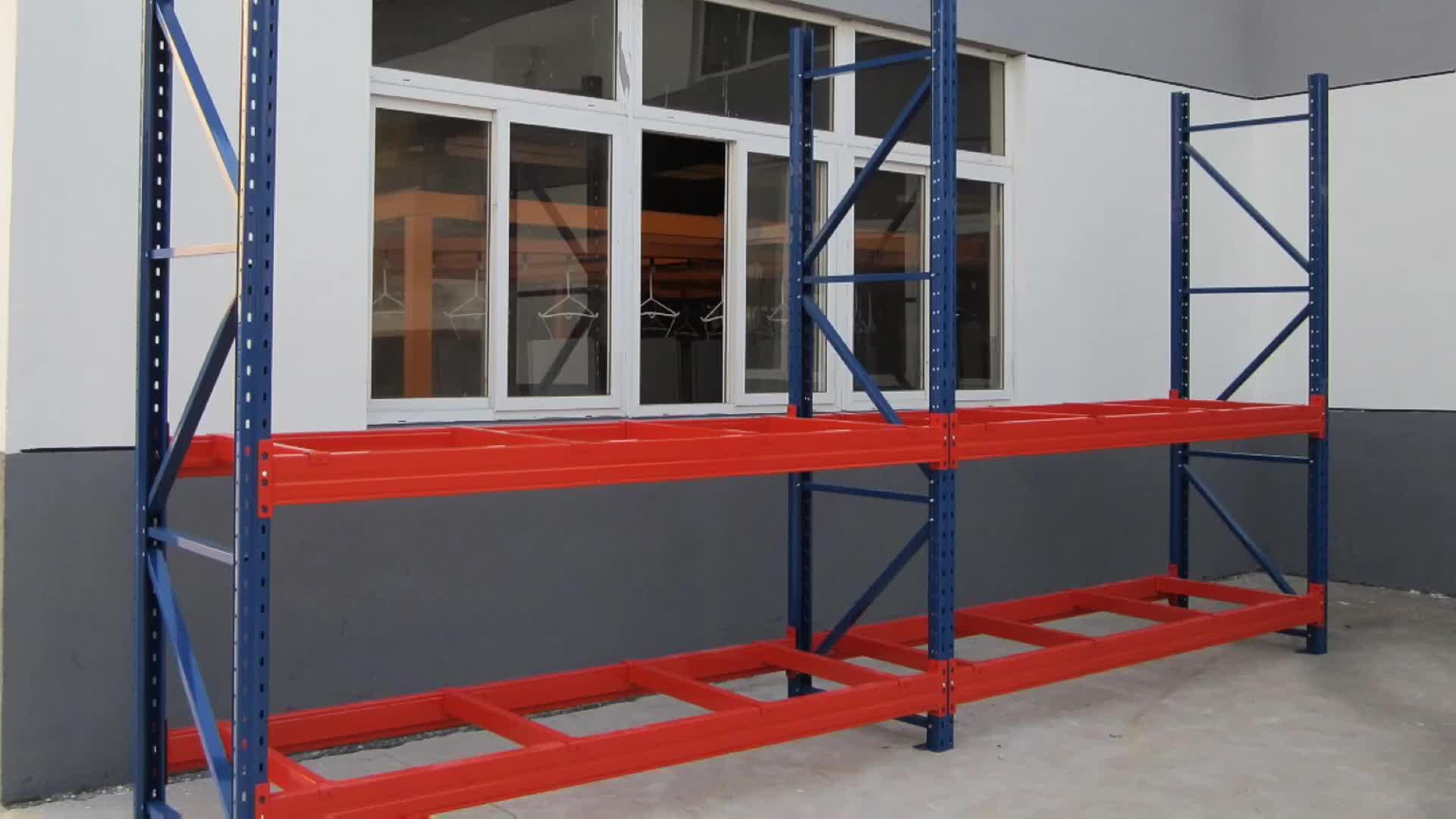 4,5 de servicio pesado T por capa de metal de almacenamiento de almacén de estanterías de paletas para el almacenamiento industrial