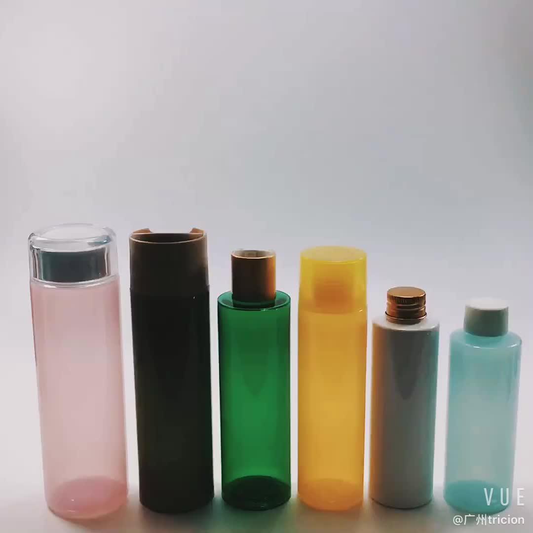Exército verde 250 ml hidratante emulsão shampoo garrafa de plástico PET com tampa de rosca ou tampa da bomba