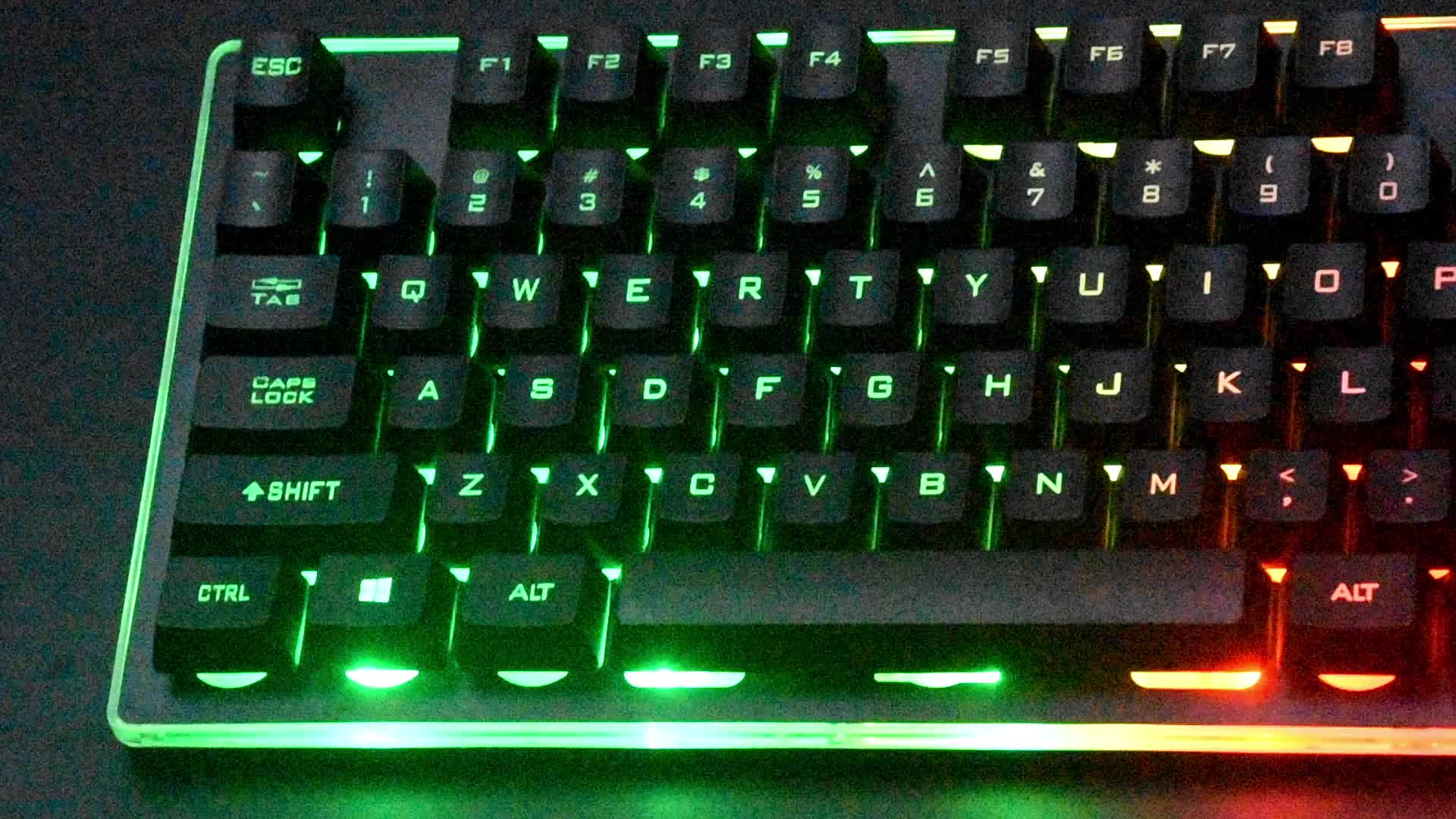 2019 hot selling factory price 3 color backlit wired Gaming ergonomic half mechanical keyboard for professional gamer