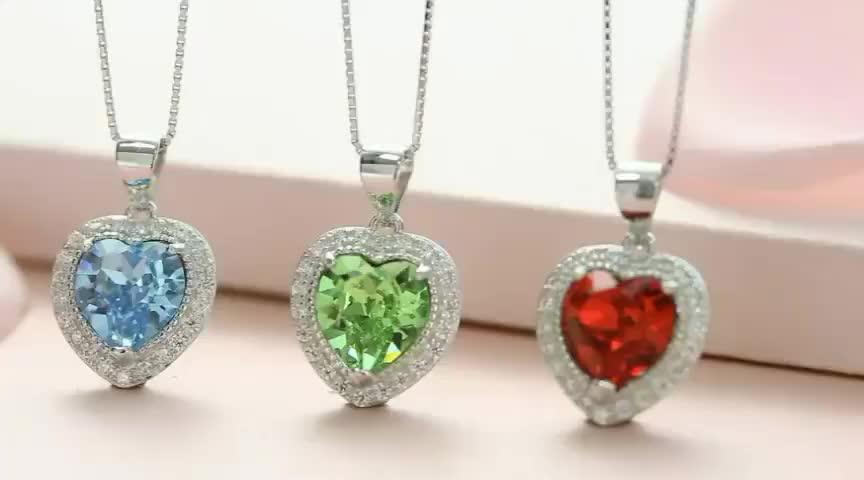 melhor presente de aniversário Cristais de Swarovski birthstone pingente de colar de jóias