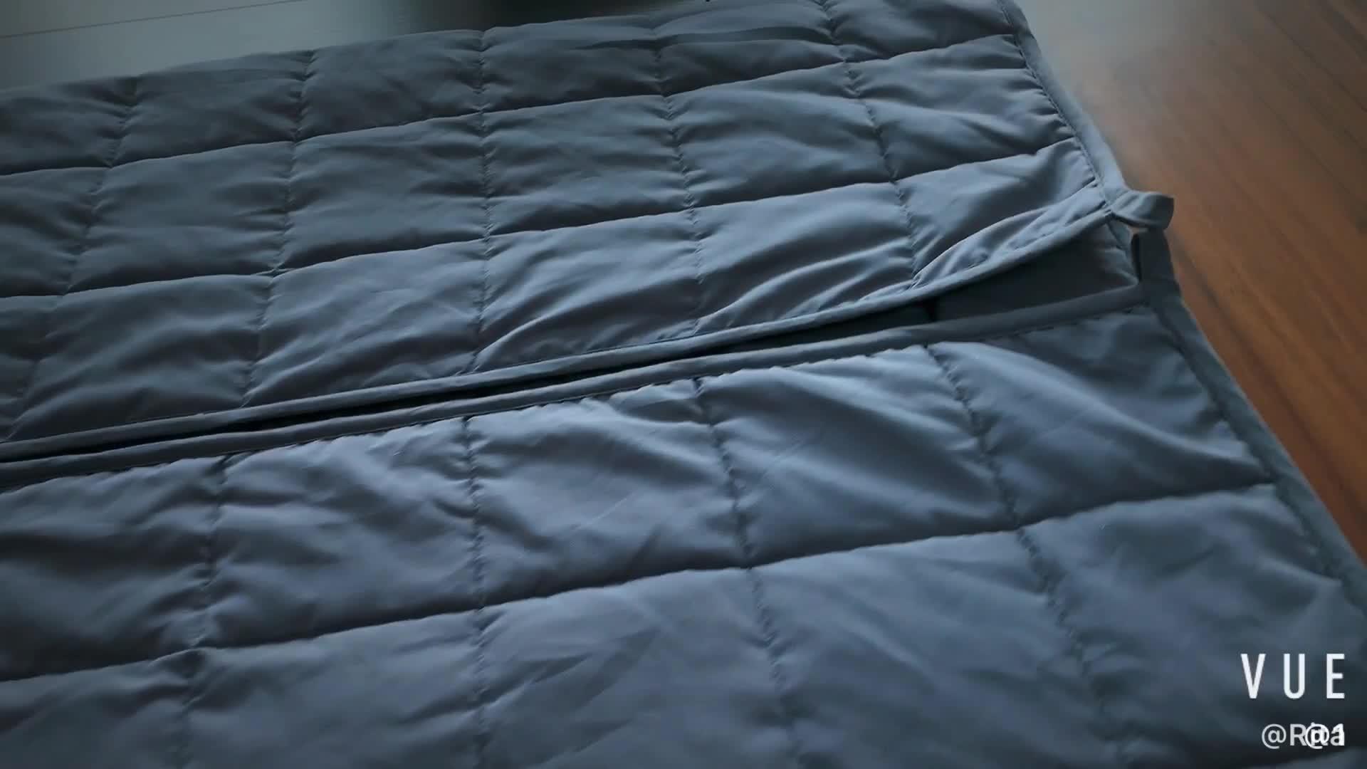 Oeko-tex CE échantillon gratuit Zonli couverture sensorielle pondérée bambou 15lbs couverture pondérée