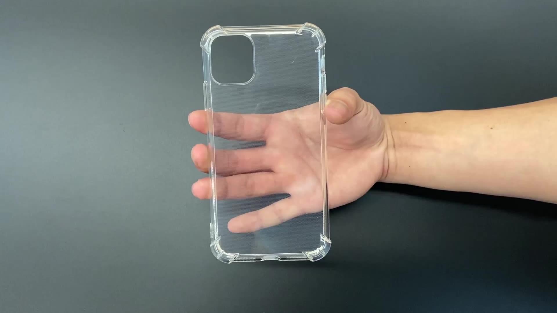 Airbag Design morbido Caso di TPU Trasparente della copertura Completa di Protezione In Gomma di Cristallo Trasparente della Cassa Del Telefono per il iphone 11 pro max