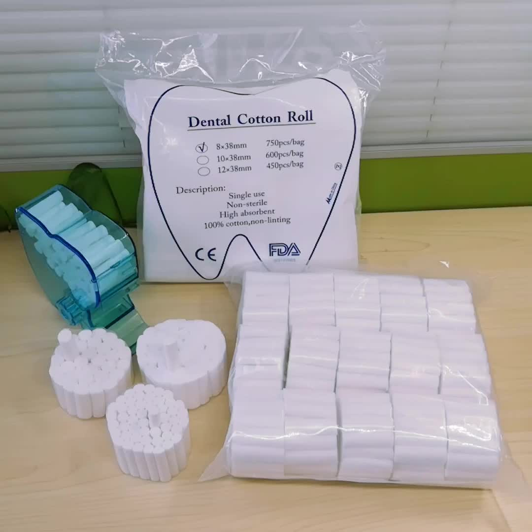 Disposable Medical Use Sterile Absorbent Dental Cotton Rolls
