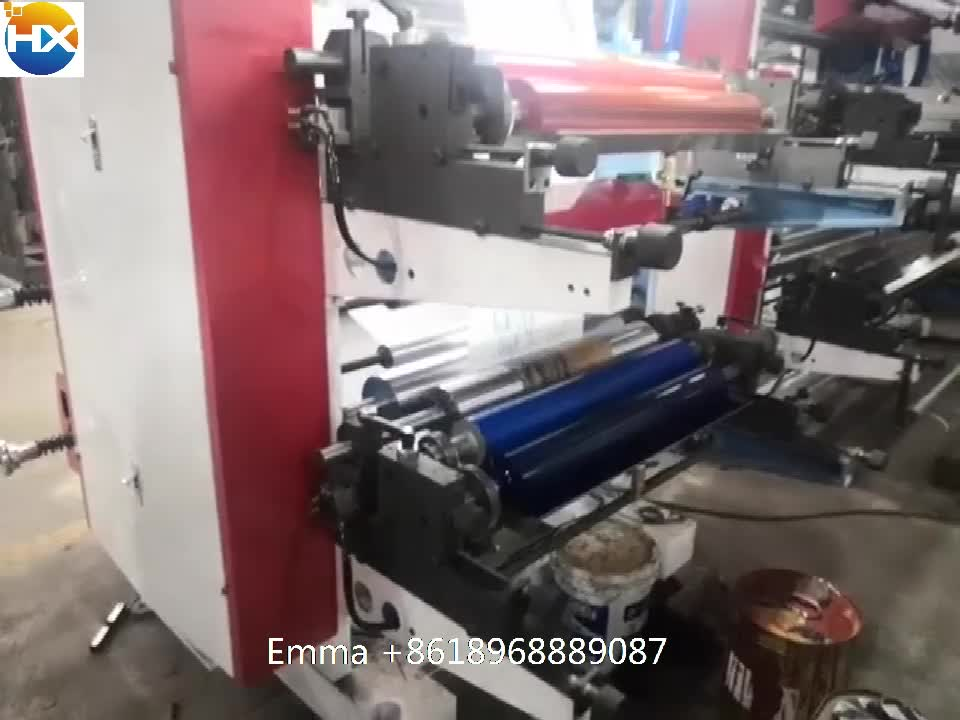 Intelligente controle 2 kleur non-woven tas flex drukmachine prijs