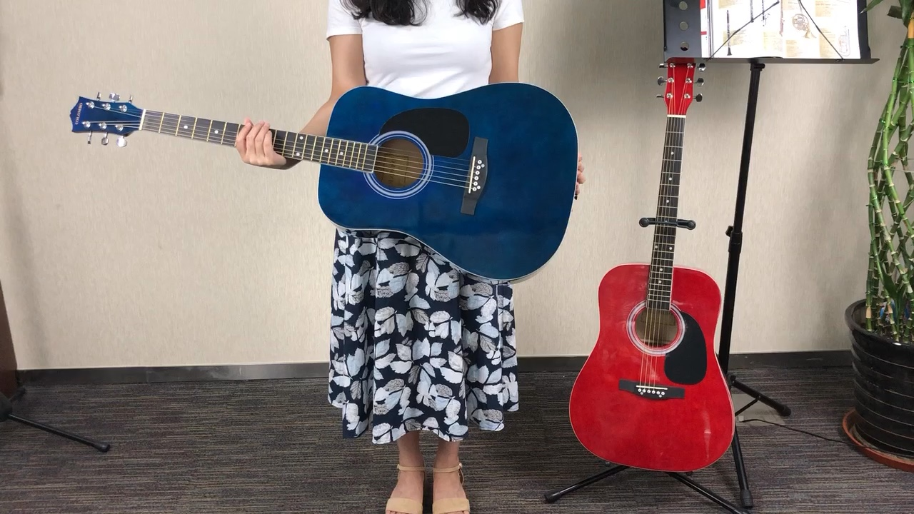 OEM Chinese Full Size 41inch Wholesale Cheap Price Semi Custom Practice Guitar Blue Acoustic Guitar