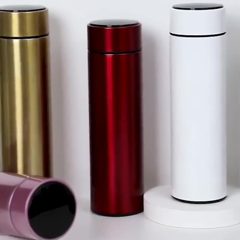 304 stainless steel intelligent thermos Portable LED Temperature Display Vacuum Flasks smart water bottle