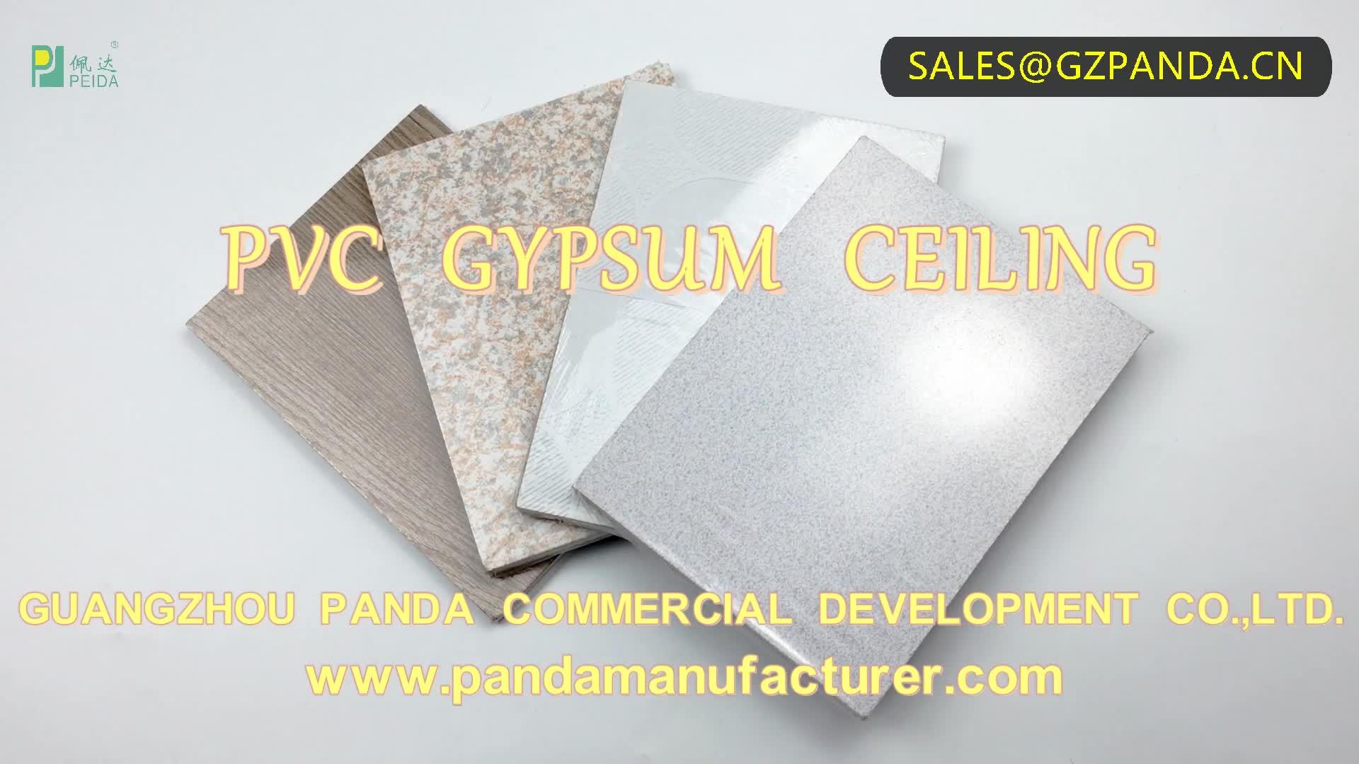 En kaliteli beyaz renk alçı fiyat 60x60 pvc alçı tavan