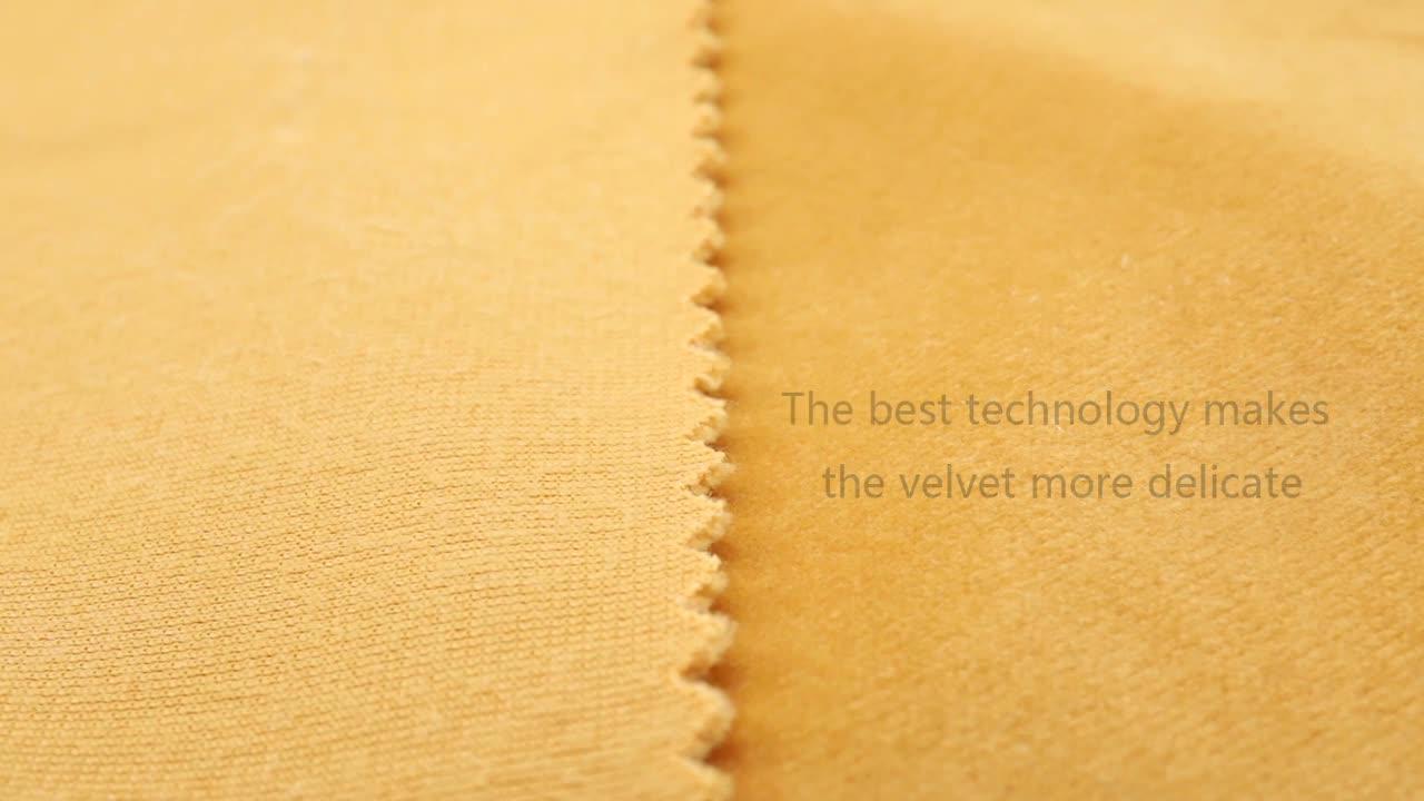 Dernière conception de tissu 350gsm rayure canapé rose clair velours tissu