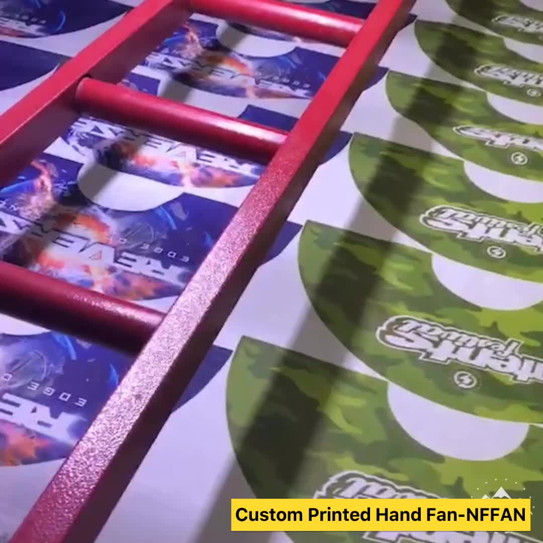Chinese personalized mini bamboo folding hand fans custom design printed