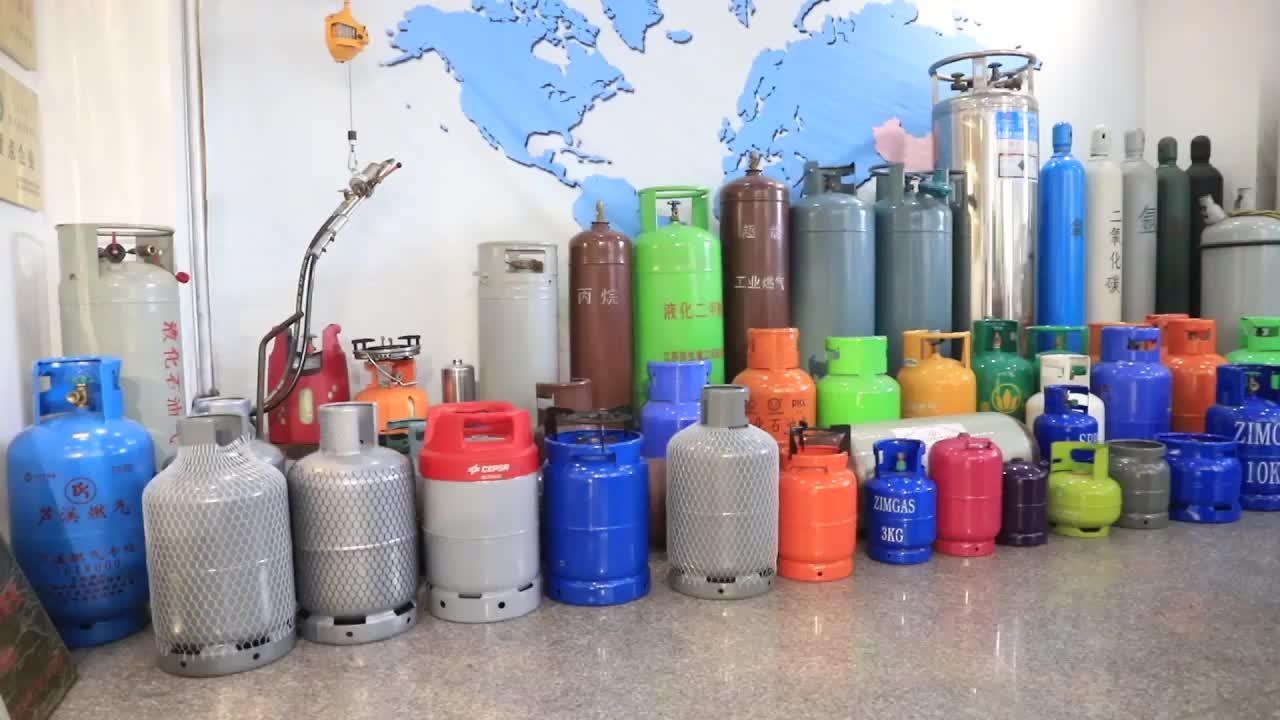 Minsheng ISO TPED 12.5kg 25lbs 26.5L lpg cilindro de gás com certificado de BV