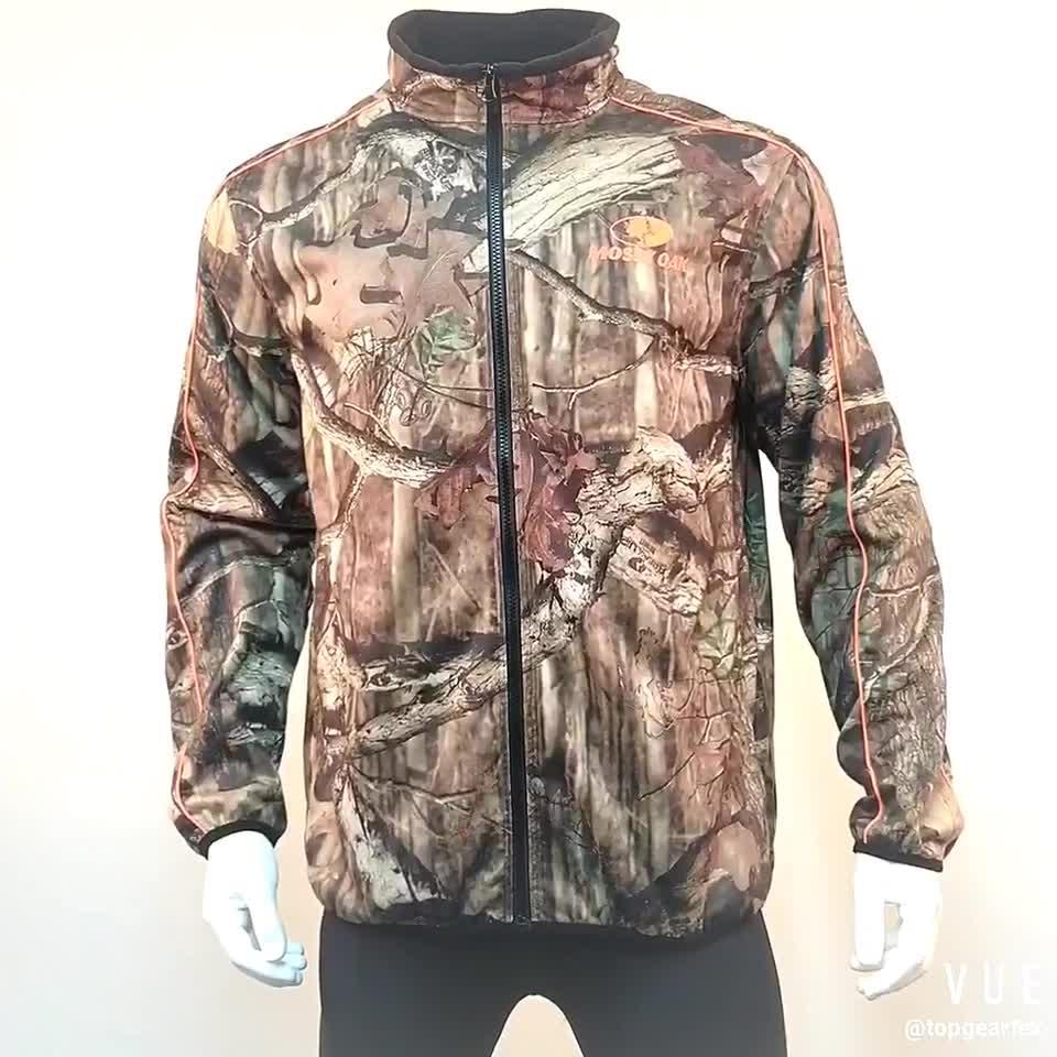 Topgear moda su geçirmez kamuflaj avcılık softshell ceket erkek 96% polyester % 4% spandex bağlı mikro polar polar