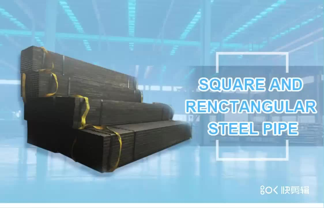 Rectangular tube and square tube steel hollow section steel pipes sizes ASTM A53