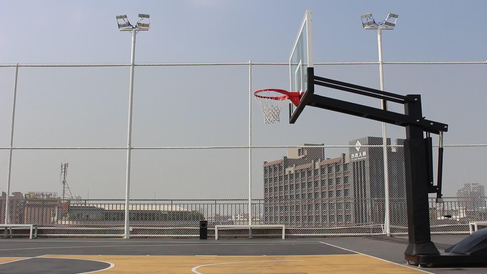 "Adjustable Portable Basketball Goal with 54"" Backboard and Rim"