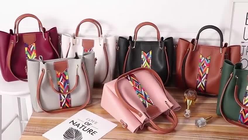 Quattro in un set colorato a mano borse per le donne 2018 bella Signora borse