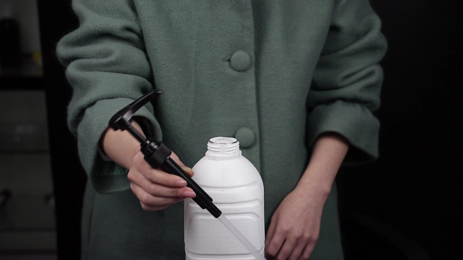 Material de alta calidad salsa jarabe de dispensador de bomba de boquilla larga