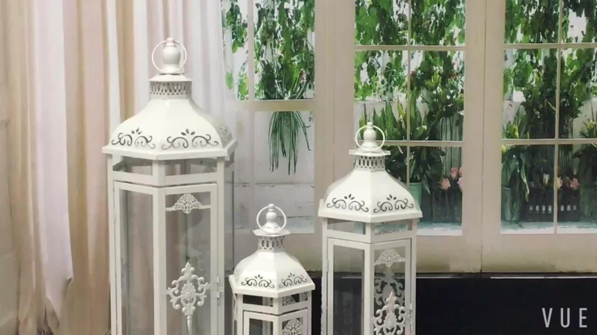 19*16 * H49cm Atacado indoor jardim ao ar livre decorativa do Natal lanterna de vidro para vela