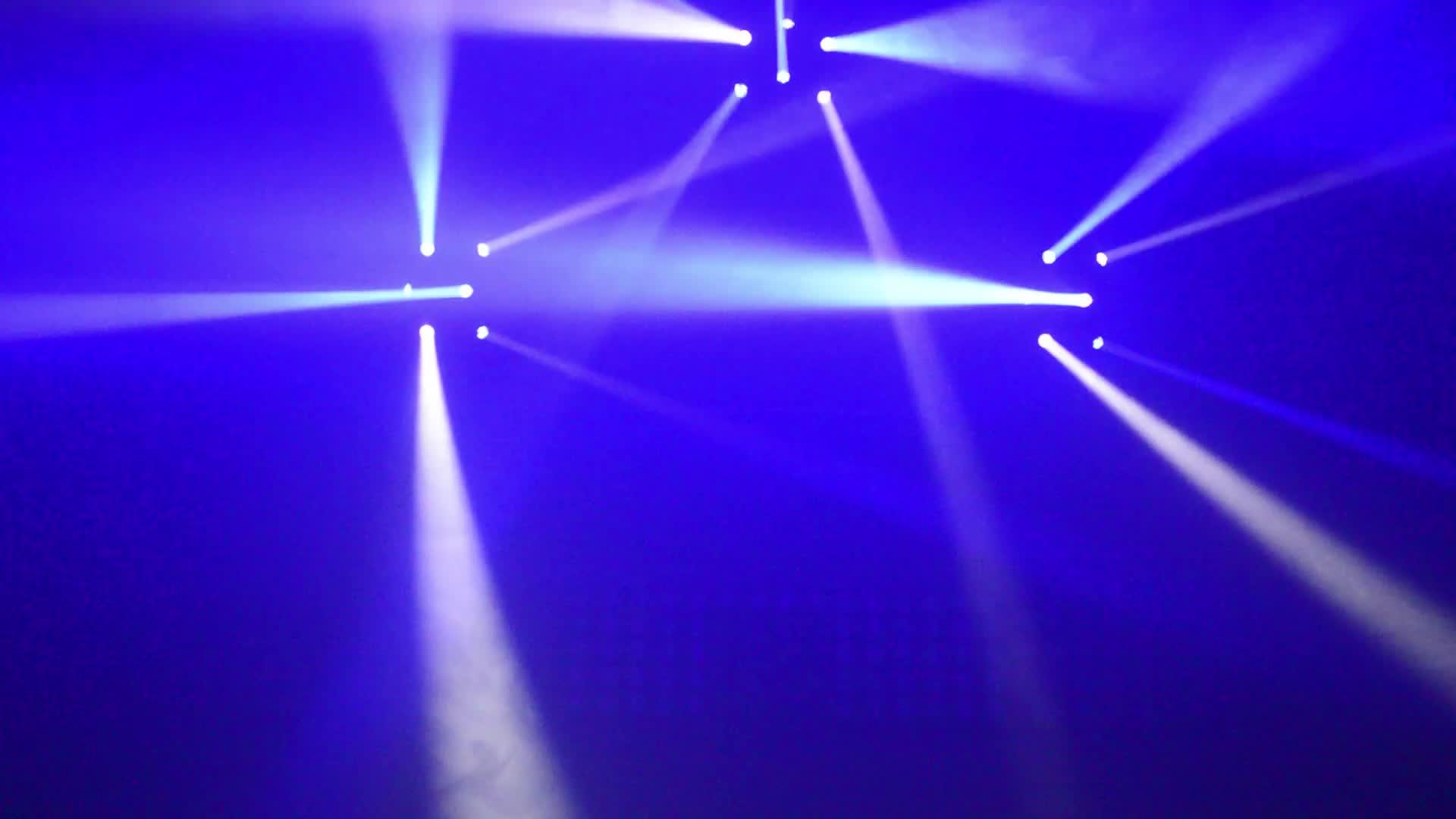 6x10 W RGBW 4em1 louco levou seis atirador cabeça em movimento luz dj discoteca equipamentos de iluminação de palco