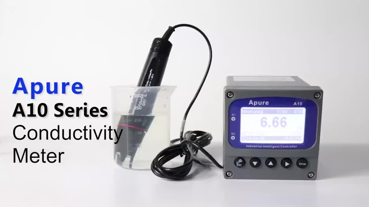 APURE water tester online PH TDS EC controller digital electrical conductivity meter