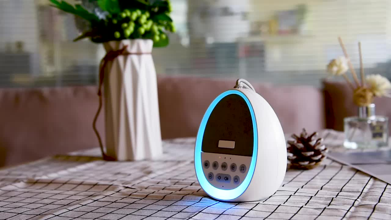 Home USB Rechargeable Baby Babi White Noise Sleep Aid Sound Machine with 7 Color Adjustable Warm Light