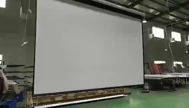 160 polegadas telas de projeção tela elétrica tela de projeção grande ao ar livre