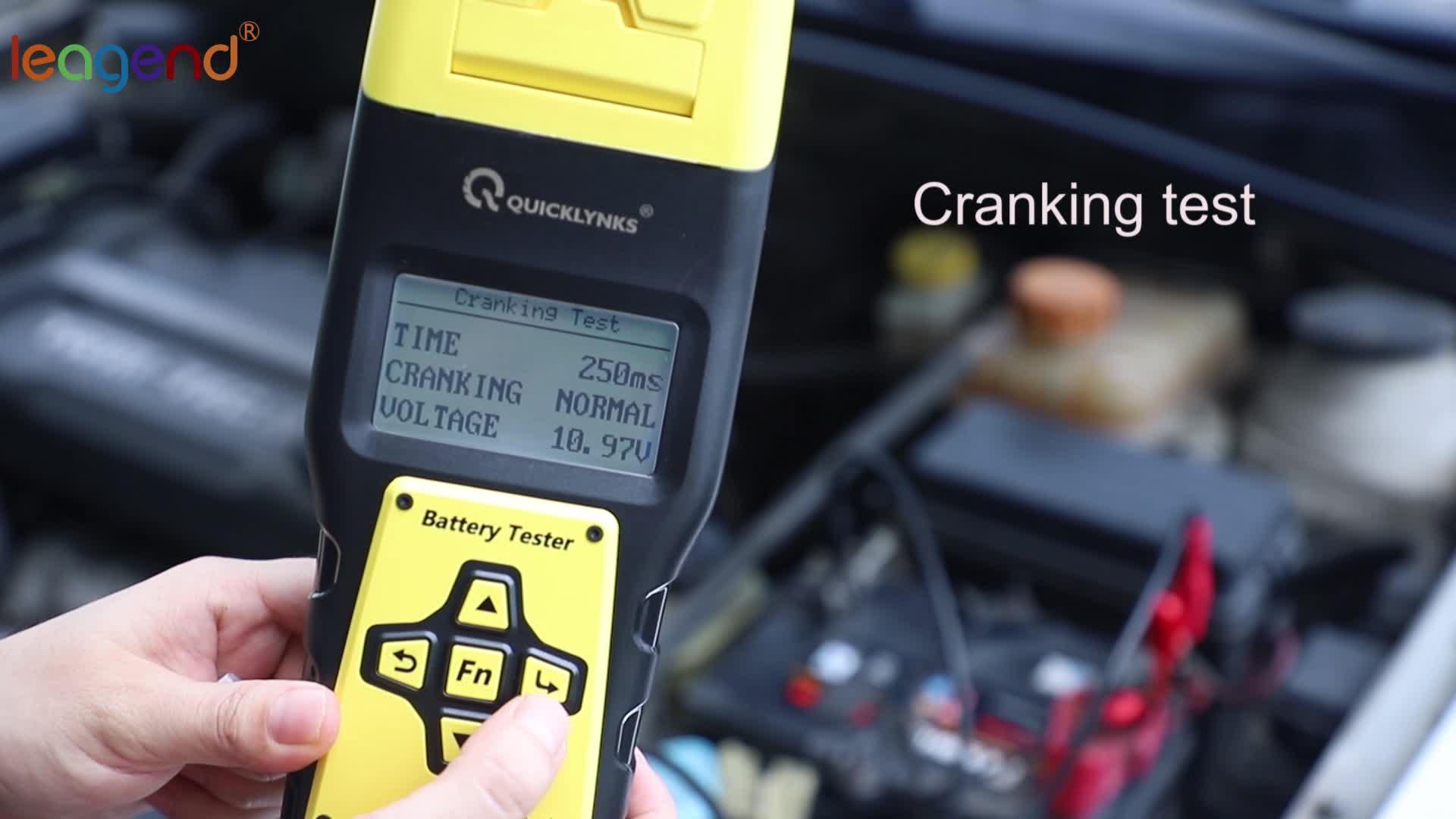 मोटर वाहन बीटीएस बैटरी सीसीए वोल्टेज लोड विश्लेषक बैटरी परीक्षक के साथ प्रिंटर