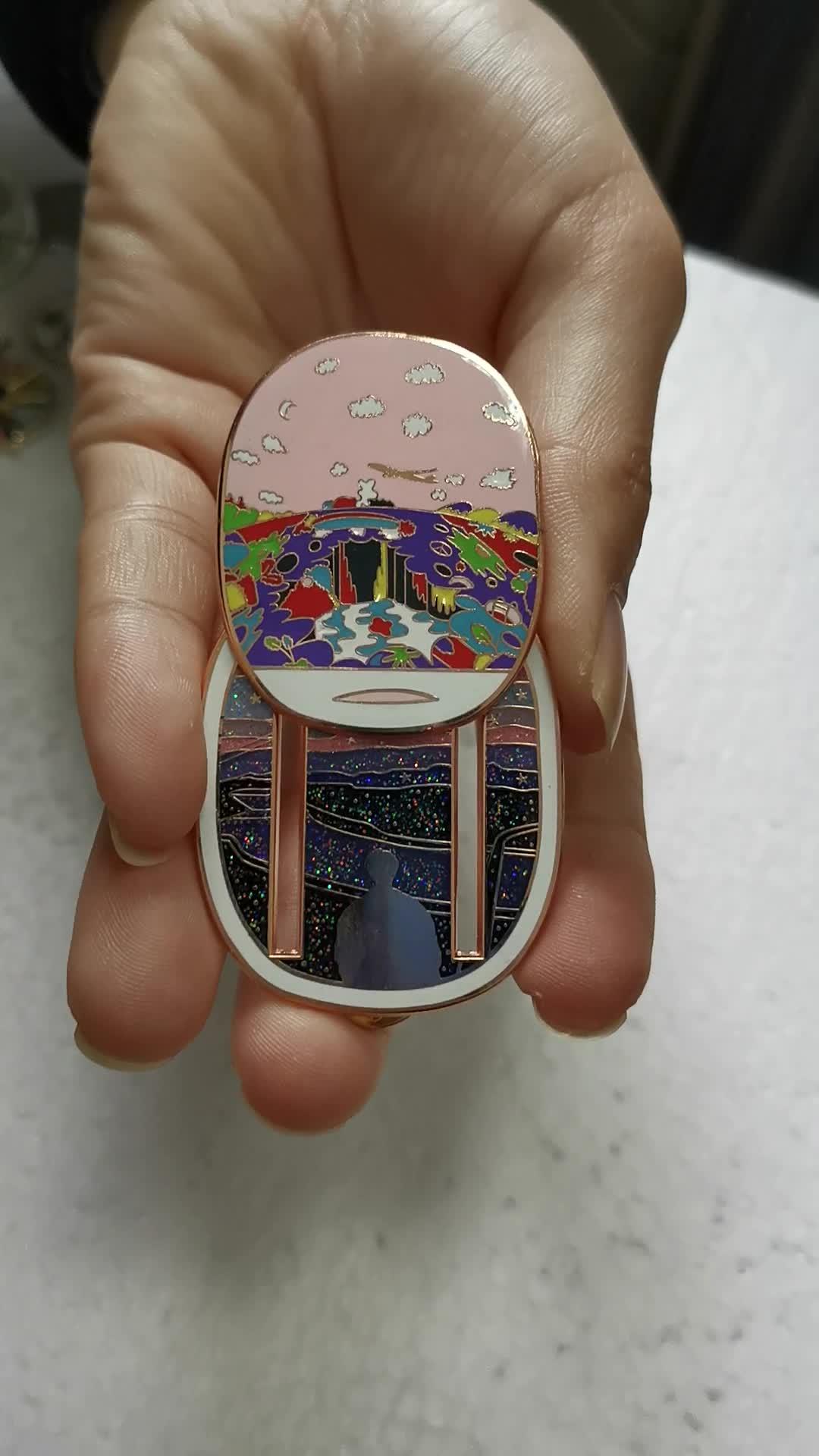 Casal Amante Lembrança Projeto da Fantasia Brilham No Escuro Esmalte Pin