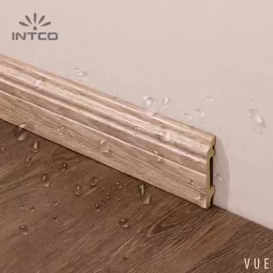 INTCO Hot selling Waterproof 8CM Modern PS Polystyrene Plastic Skirting Board