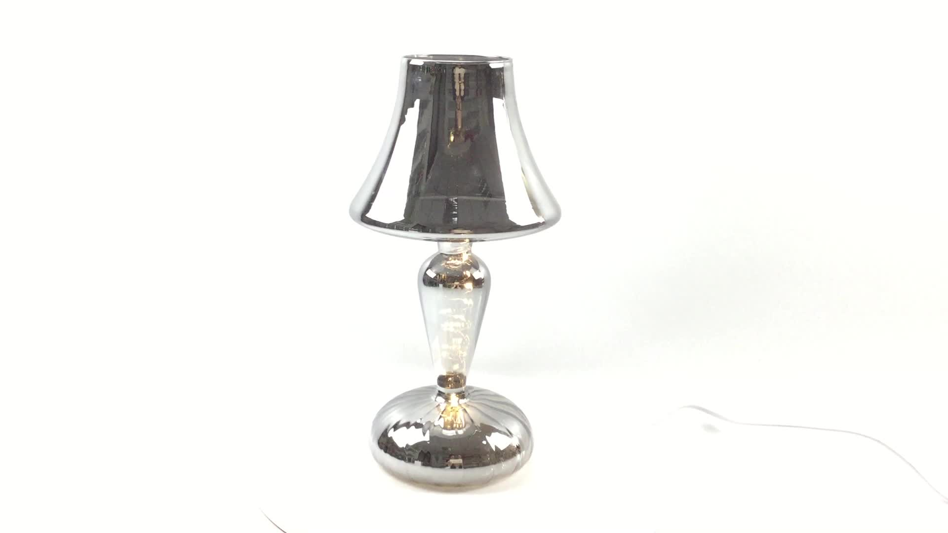Wholesale Handmade Blown glass lamp Warm white light for home decoration and gift for holidays. 3xAA batteries not included.