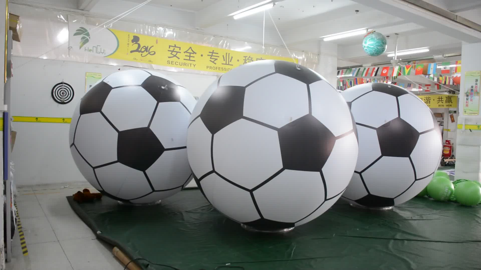 Giant 6ft Tall Inflatable Soccer Ball For Fun Beach Pool Party