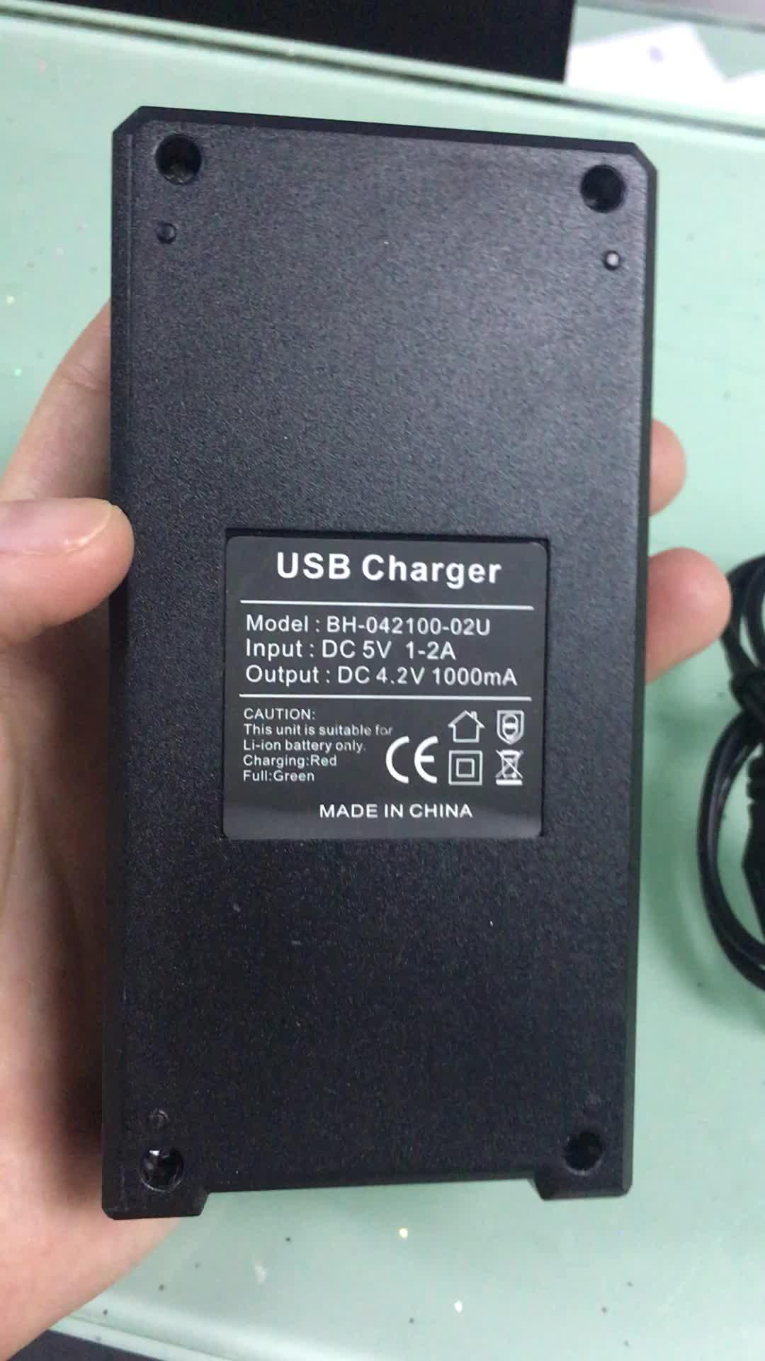 USB อัจฉริยะ 2 ช่องสำหรับ Li-Ion แบตเตอรี่ 18650 16340 ชาร์จ