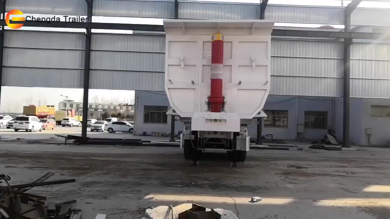 All New Chengda Brand Front lifting 80ton 4 axle Dump Semi Trailer for sale from factory seller directly