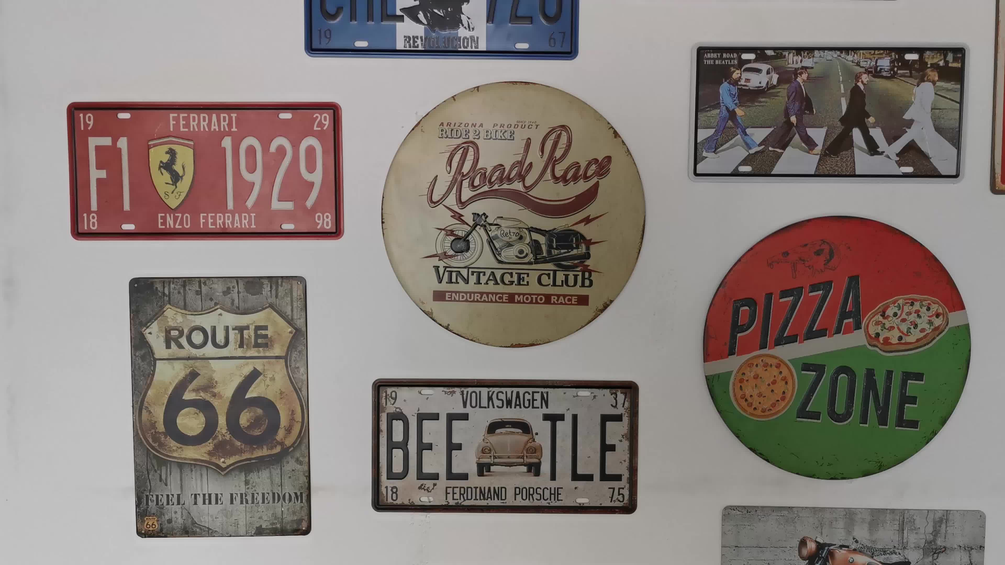 wholesale  20 x 30 cm beer logo decorative advertise plates vintage metal signs tin signs