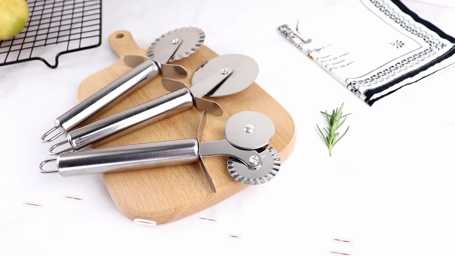 공장 가격 스테인레스 스틸 도구 요리 클램프, 개막전, 자전거 피자 커터 휠