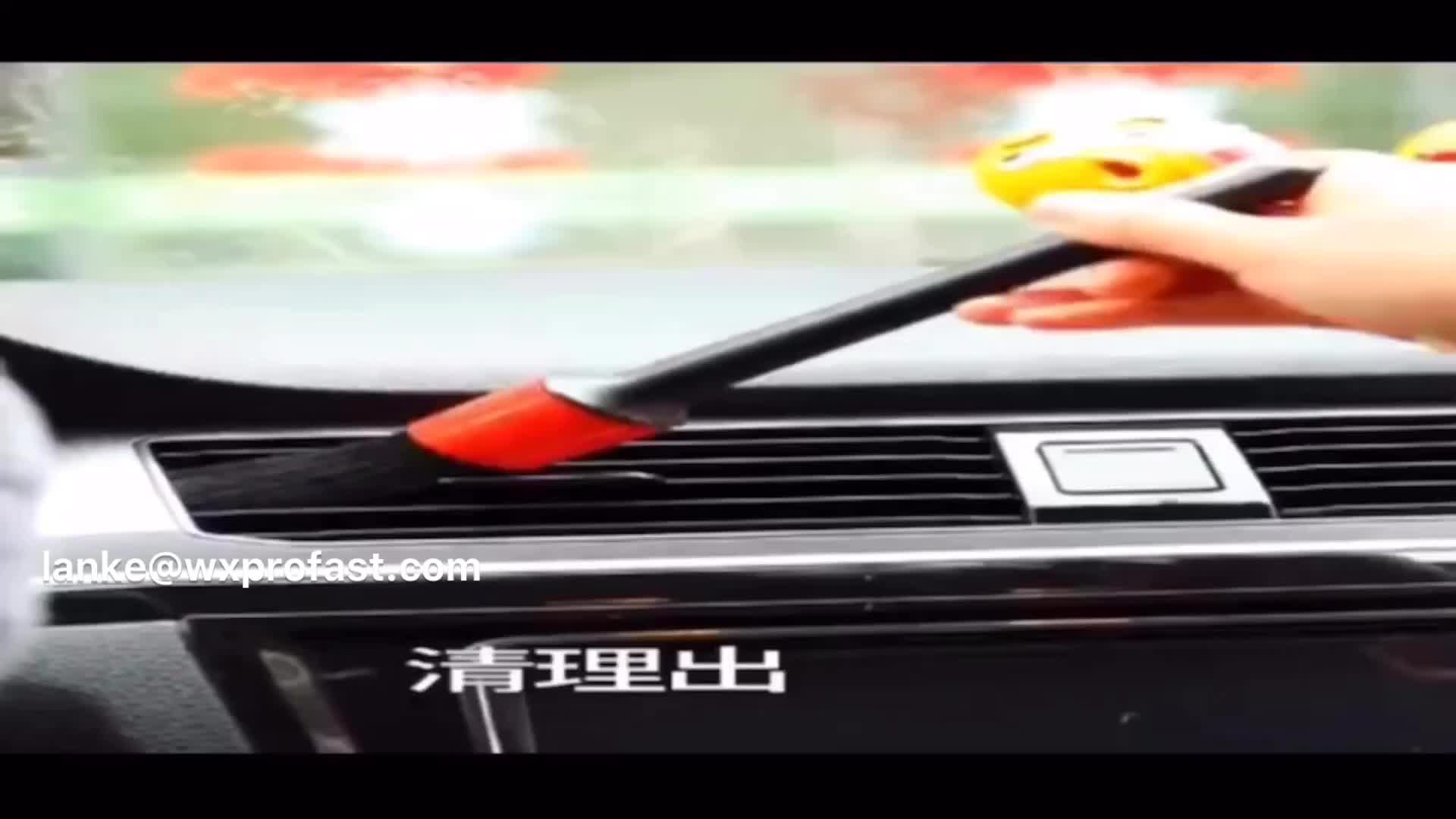 Auto Innen Reinigung Ausrüstung Detaillierung Produkte Gelb Natürliche Wildschwein Haar Auto Detaillierung Pinsel