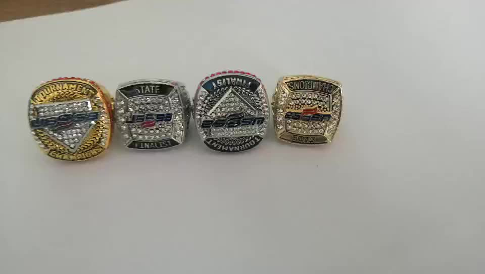 Stainless Alloy Baseball Tournament Custom Cheap Championship Rings