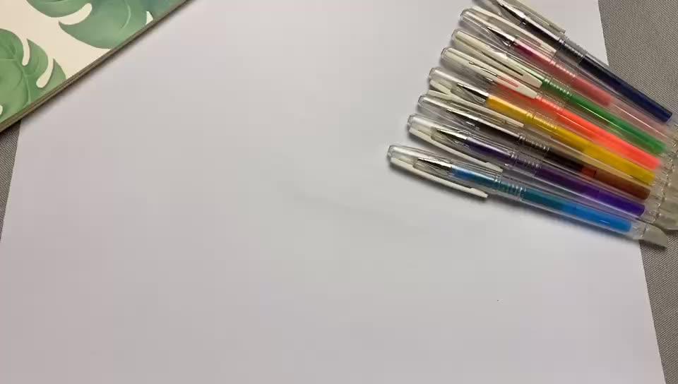 गर्म बेच सबसे अच्छा स्कूल लेखन स्टेशनरी जेल स्याही erasable कलम रबड़ के साथ