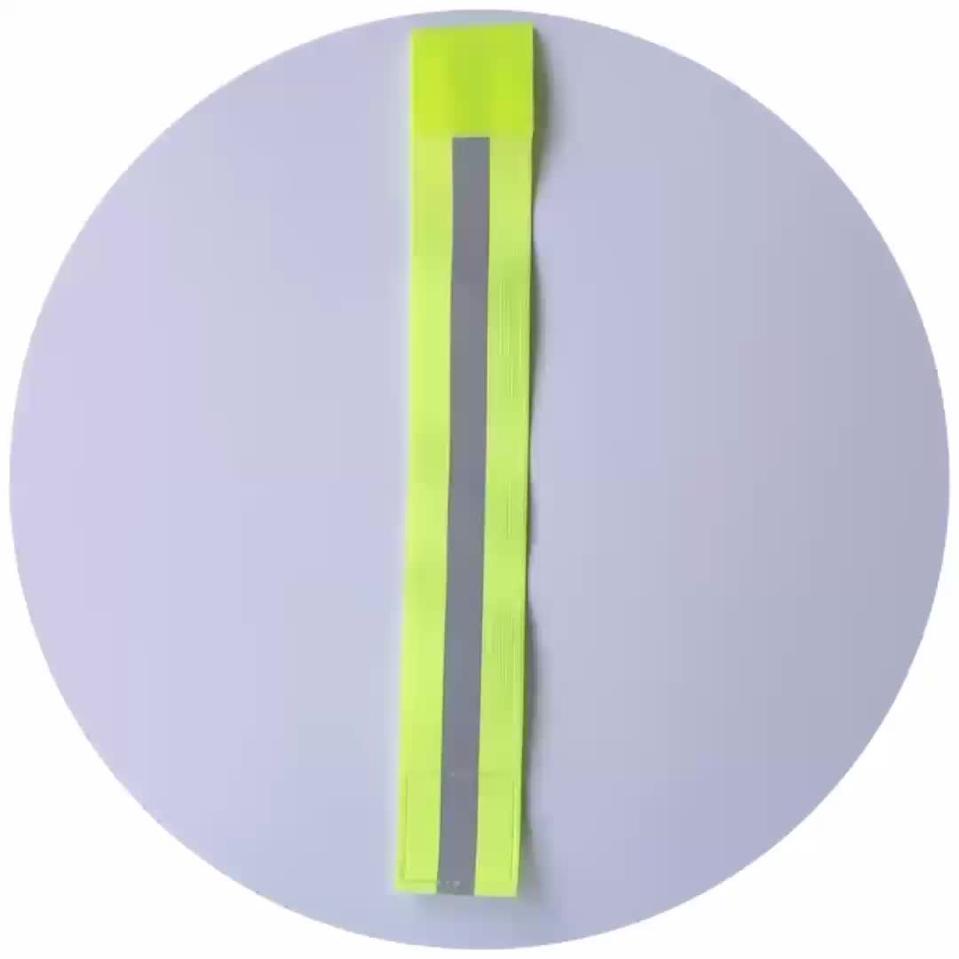 Chinese manufacturer Sports running cycling reflective fabric elastic  armband