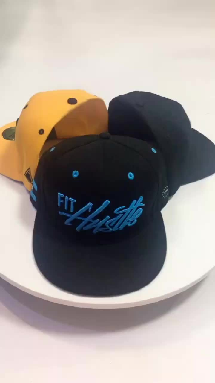 Custom Design Your Own 3D Embroidery Logo Snapback Hat Wholesale