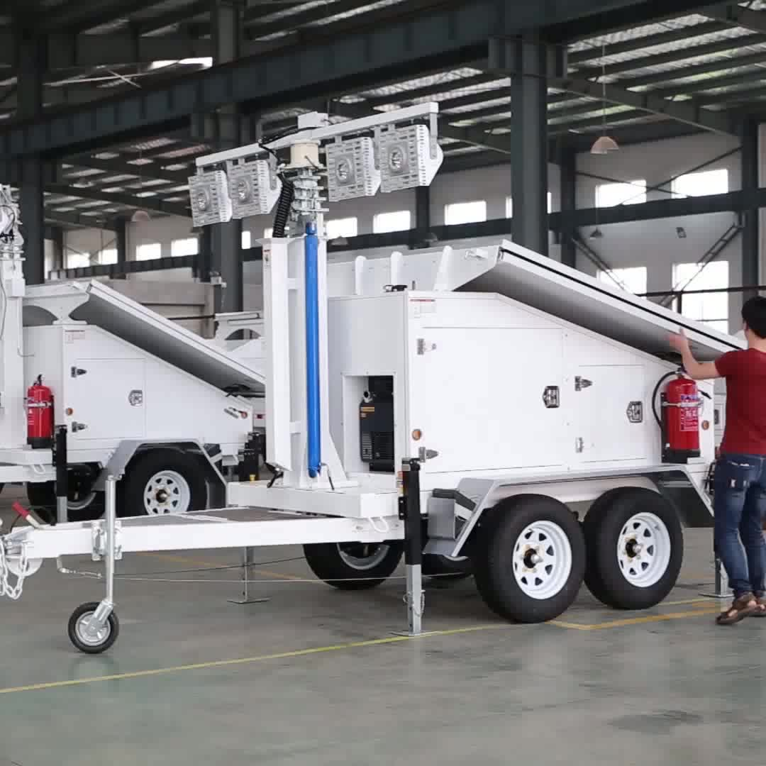 eco-friendly solar CCTV trailer from factory direct sale