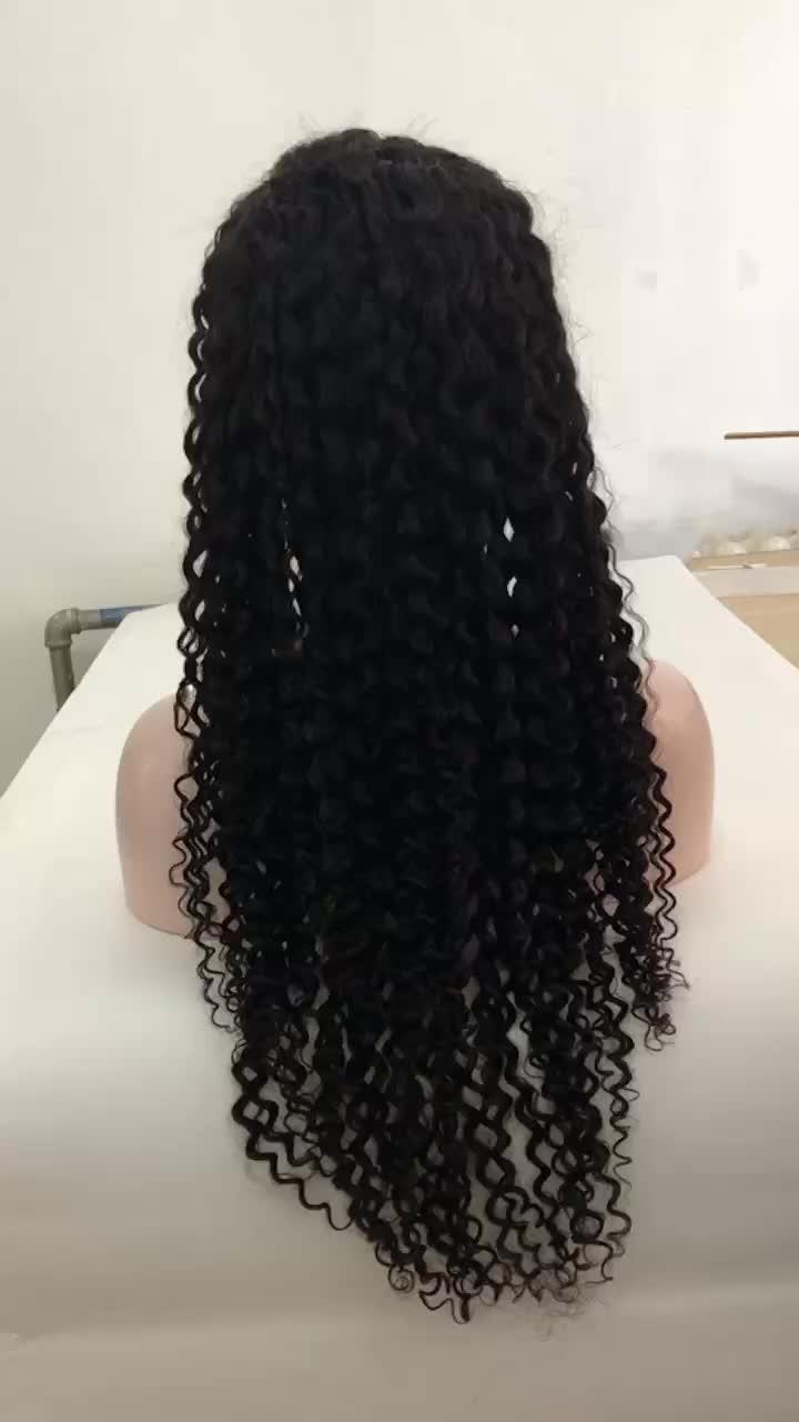 Groothandel braziliaanse kinky krullend full lace menselijk haar pruiken met baby haar voor zwarte vrouwen