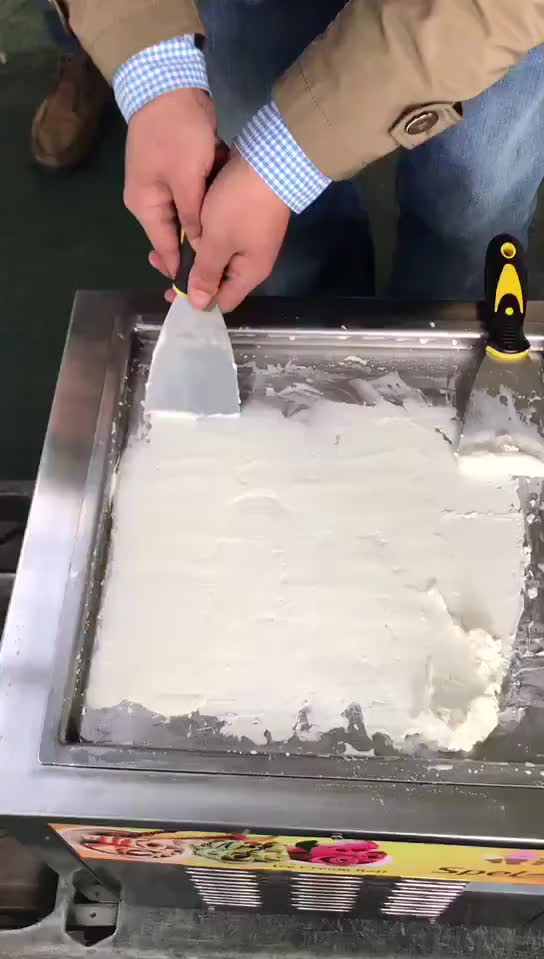 Highly-Efficient Frozen Yogurt Machine /Fried Ice Cream Machine