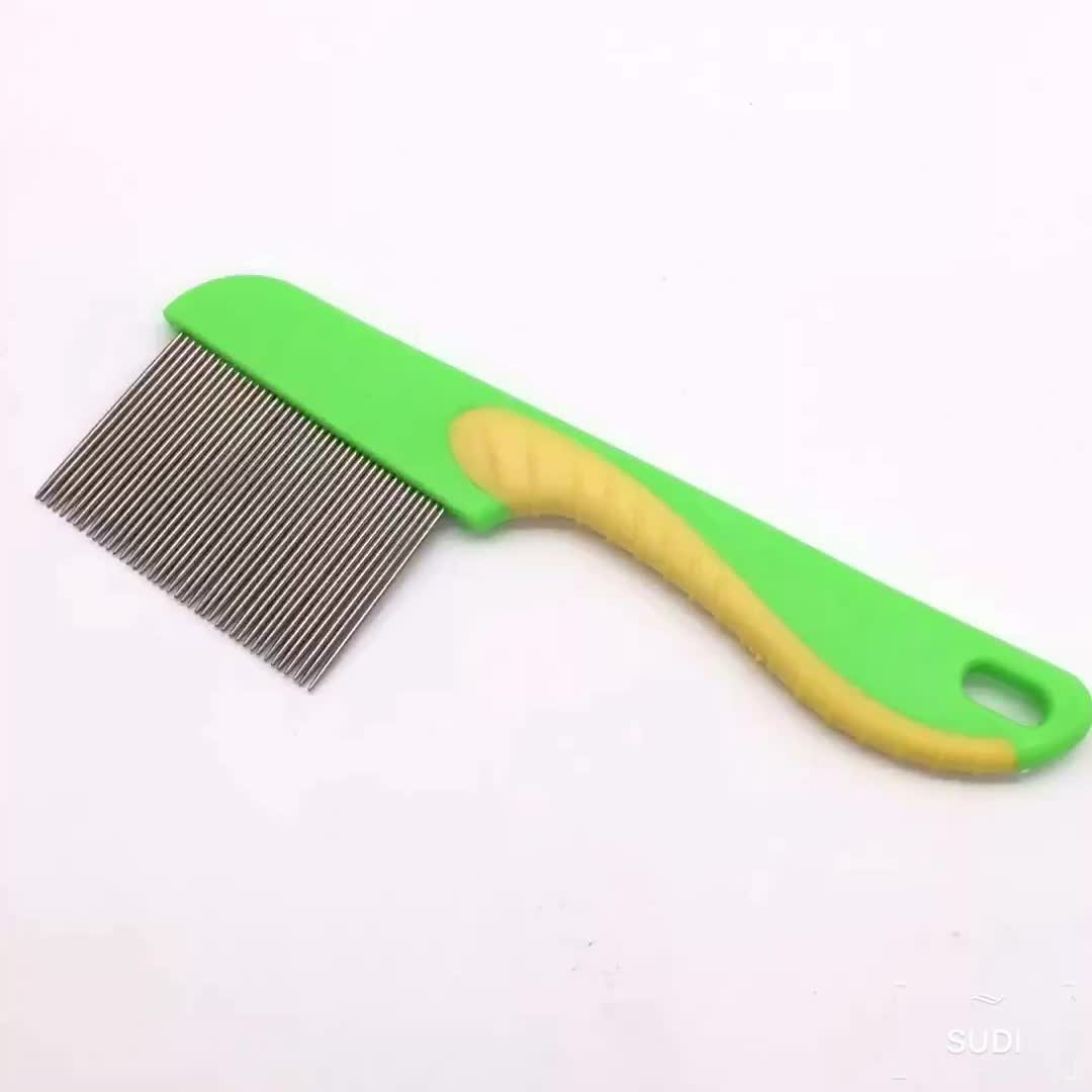 domestic pet health care stainless steel dog hair  lice comb metal