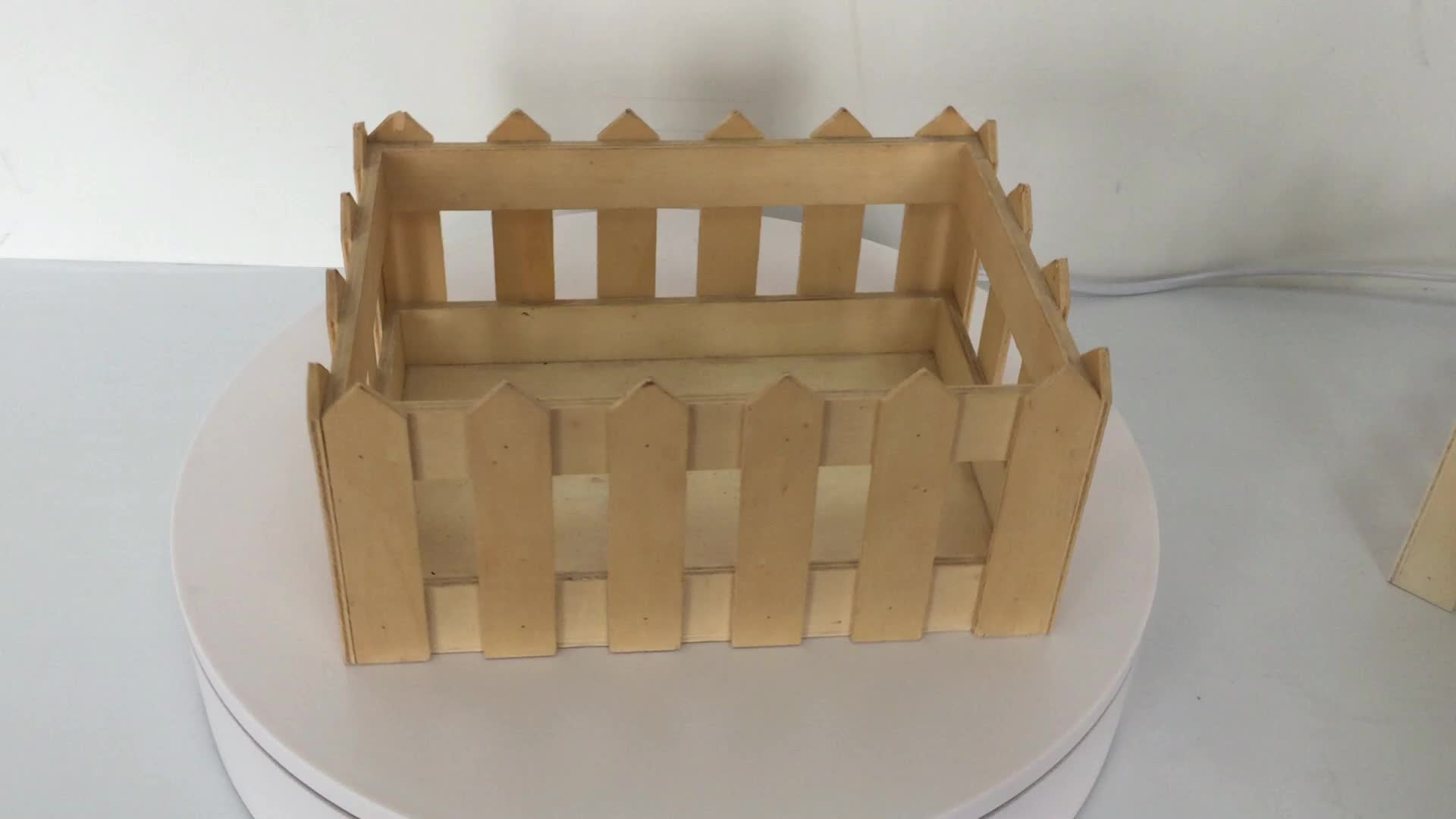 Wooden collapsible Storage boxes crates for stacking (wood, 3 units)