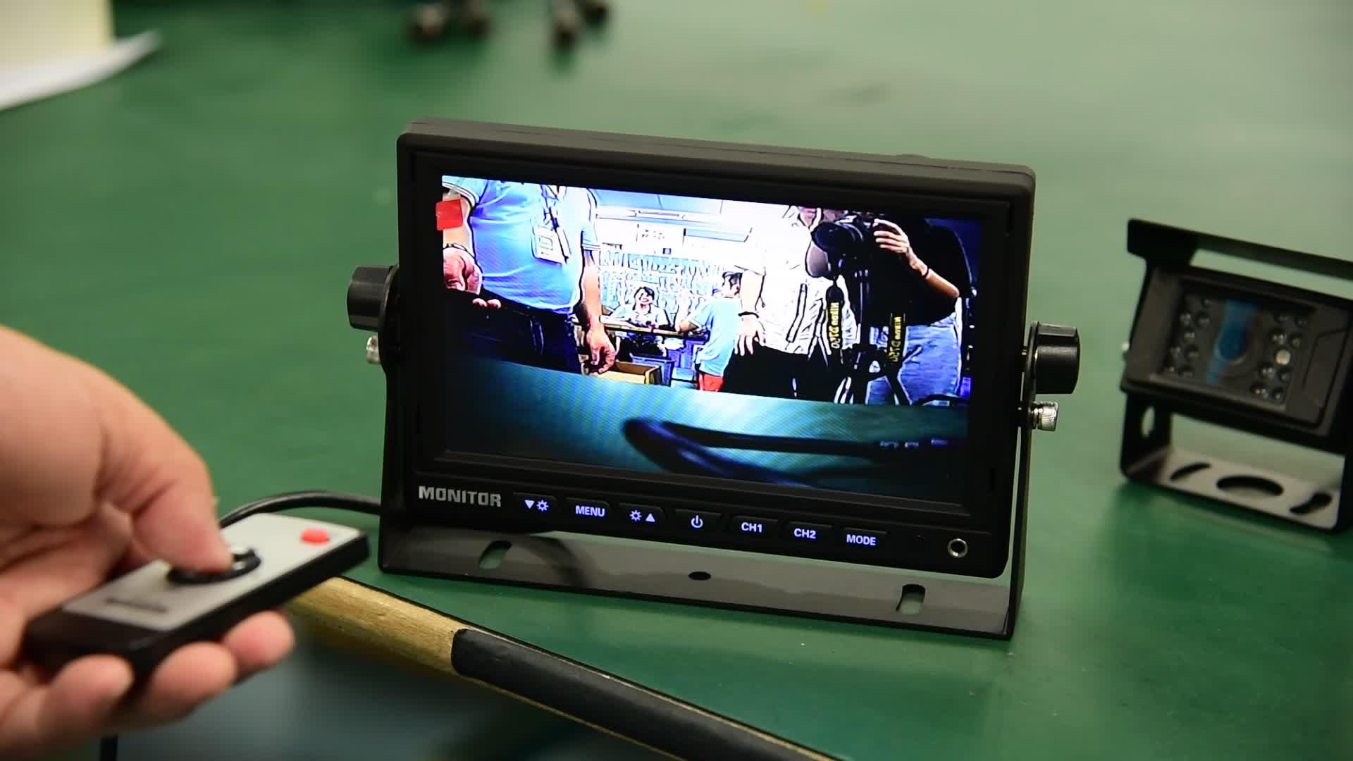 OEM עיצוב החדש אנדרואיד 7 אינץ HD LCD רכב צג טלוויזיה, וידאו משאית מצלמה מערכת