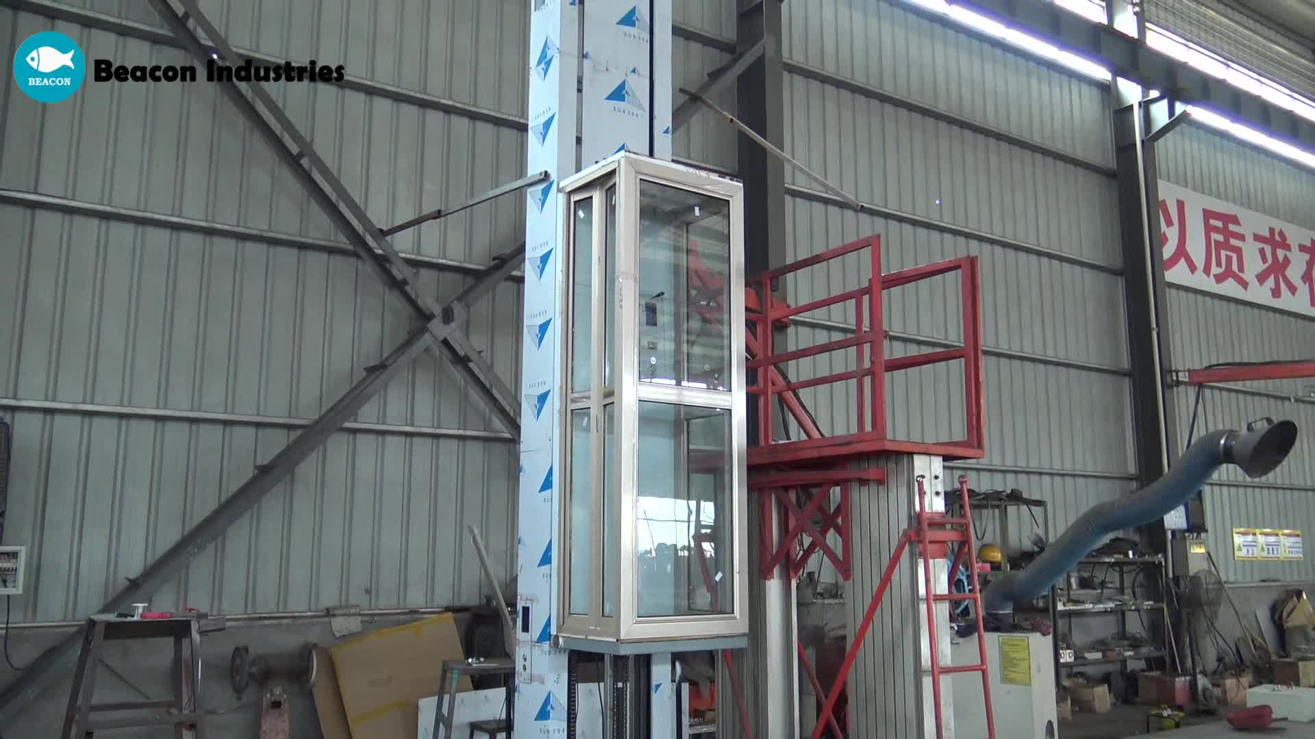 3-10m lifting height 300kg load 3 floor cheap residential elevator lift small home  lift house elevator with cabin