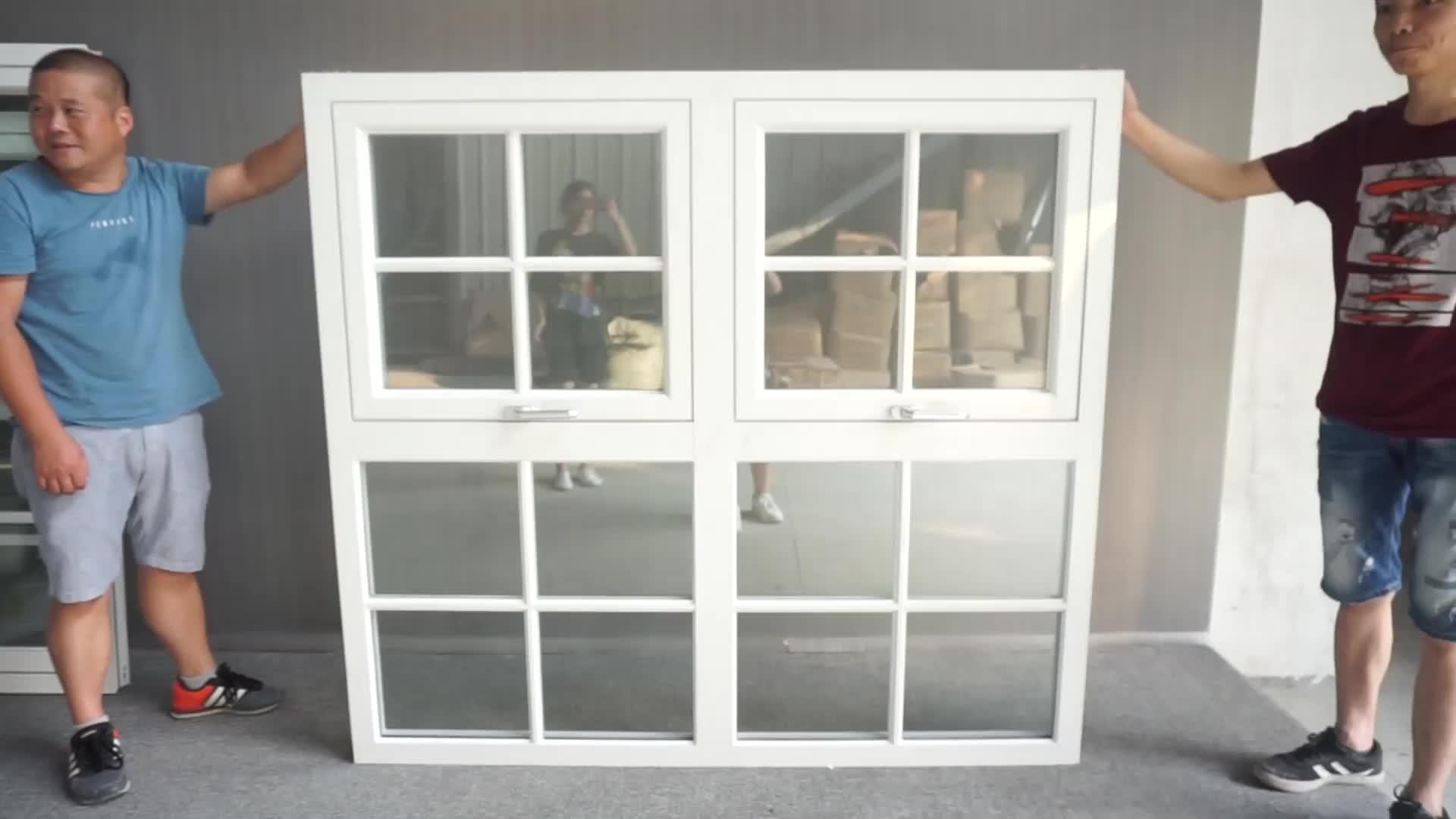 Australia Standard Glaze Vertical Casement Awning Aluminum Window